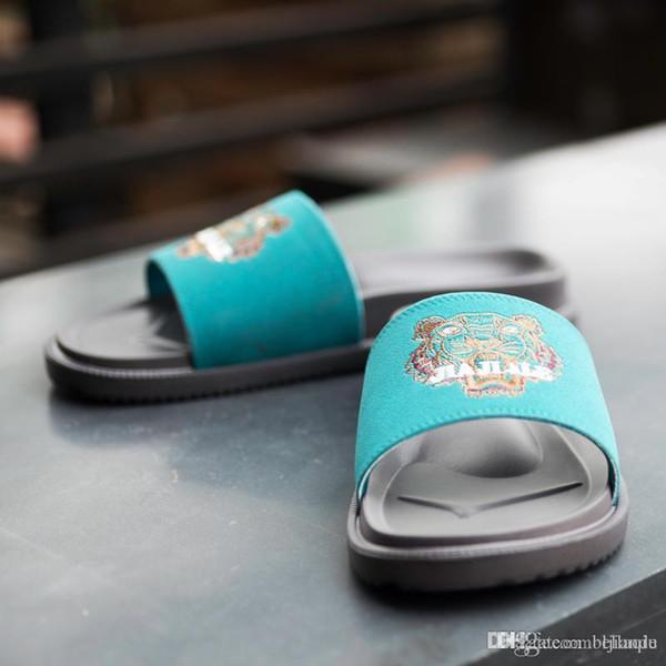 tiger slippers Summer brand designer men women slippers Wide Flat Slippery With Thick Sandals Slipper House outdoor beach flip-flops