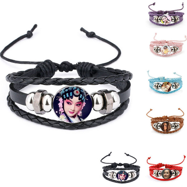 top popular knitted Cowhide bracelets for sublimation fashion bracelet for thermal transfer printing custom jewelry wholesale 2018 style design 2019
