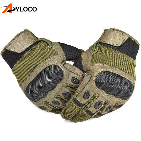 Touch Screen Tactical Gloves Men Military Paintball Anti-Skid Gloves Army Full Finger Outdoor Sports Fitness Gloves D18110705