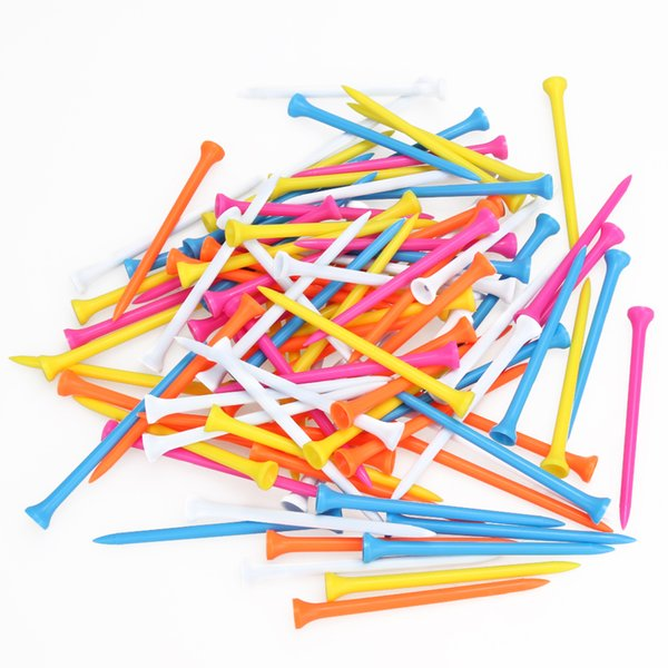 Golf Tools 100Pcs 100mm Mixed Color WoodenTees Golf For Goft Beginner Training Practice Accessory Equipment