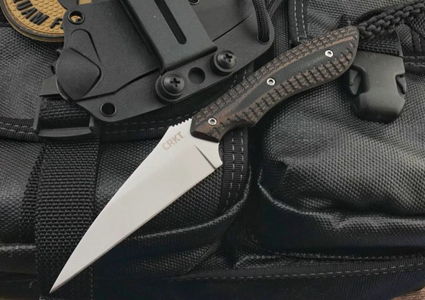 2018 New Arrival Fixed Blade Knife 8Cr13 Titanium Coated Blade Full Tang G10 Handle Outdoor Tactical Knife With Kydex