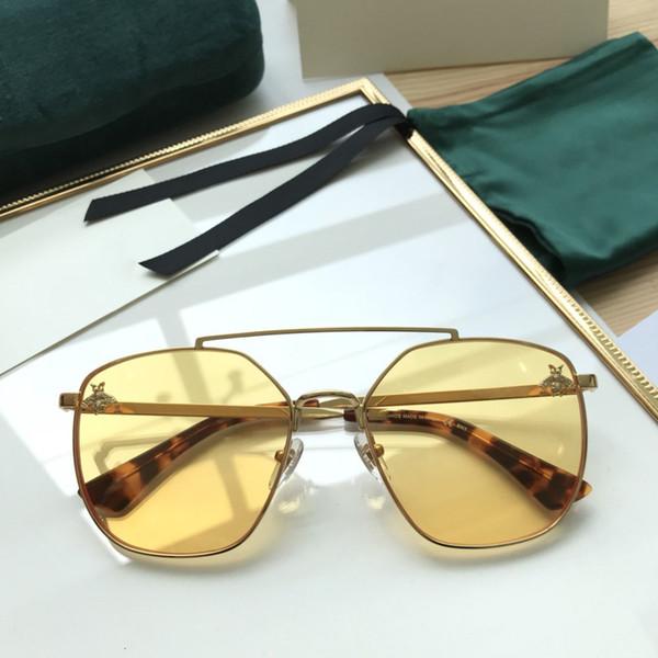 Gucci pilot custom Óculos de Sol Cor Lente Quadrado Personalidade Design  Europa e América Venda Colorido d32cdcc5eb