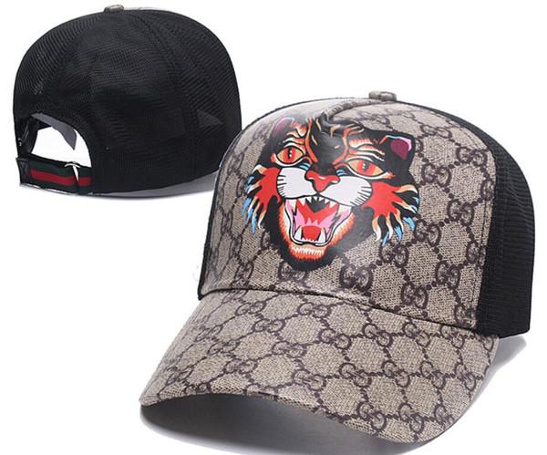 Newest Designer Mesh Cap Casquettes De tiger Head Gorras Fashion Brand Baseball Hat Races Headwear italy Bone Sun Hat Luxury Sunhat 01
