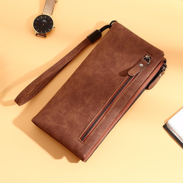 2018 Ms. S. Wallet popular mobile phone bags Korean version of frosted multi-card PU wallets folder retro card bag pocket money bags