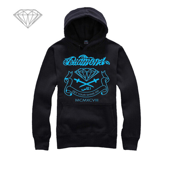 Diamond Supply hoodie for men free shipping diamonds hoodies hip hop brand new 2018 sweatshirt men's clothes pullover M04