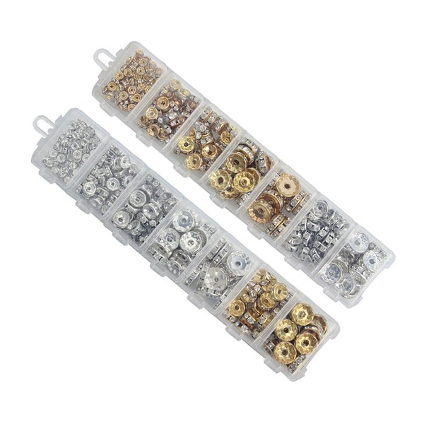 DIY Jewelry Accessories Handmade Beaded Material Bracelet Bead Spacer Ring Diamond Rings Boxed Wholesale Support FBA Drop Shipping G942F