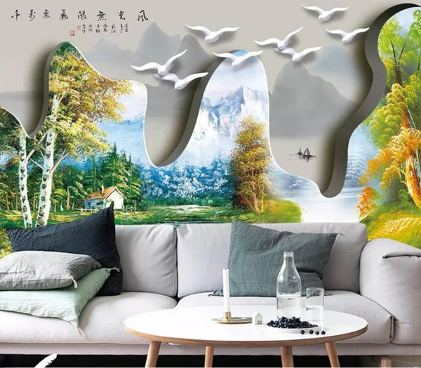 Photo 3d wall murals Hand painted oil painting 3D wallpaper European style Living room bedroom TV sofa office modern wallpaper