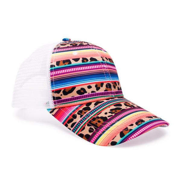 En gros Leopard Pattern Casquette Adulte, Femmes Cheetah Serape Impression Hat, Casquette En Toile Avec Mesh Garnitures Pattern Casquettes DOMIL-10101116