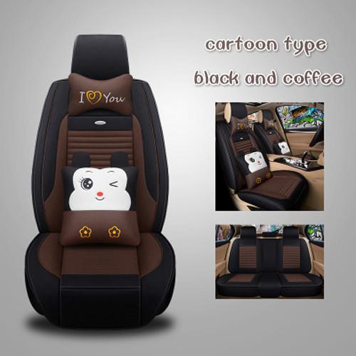 Cartoon car mat summer all clusive flax four season car seat cover for Toyota Corolla,Vios,Crown,RAV4