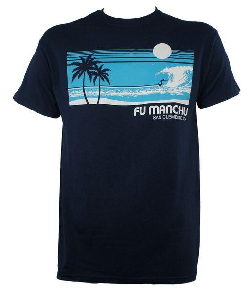 Otantik FU MANCHU Band Surfer San Clemente T-Shirt Stoner Kaya YENI Moda Erkekler T Gömlek Ücretsiz Kargo Metin