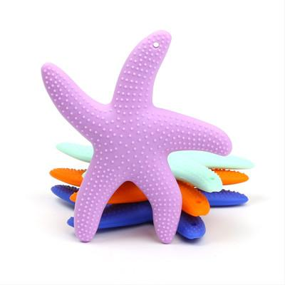 Silicone Teether Starfish Shape Baby Teethers Food Grade Baby Dental Care Toothbrush Training for Baby Care Supplies