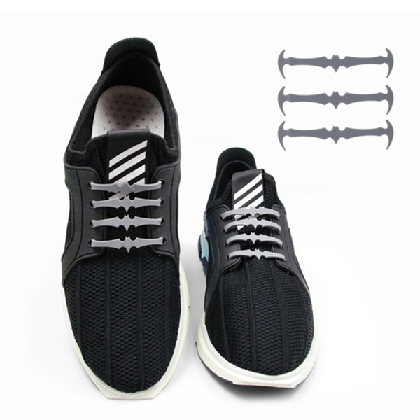 16Pcs/Set Running No Tie Shoelaces Fashion Child Athletic Elastic Silicone Shoe Lace All Sneakers Fit Strap