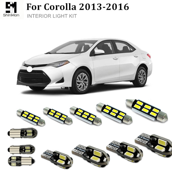 Shinman 6pcs Fehler frei LED Innenbeleuchtung Kit Paket für Toyota Corolla Zubehör 2013-2016