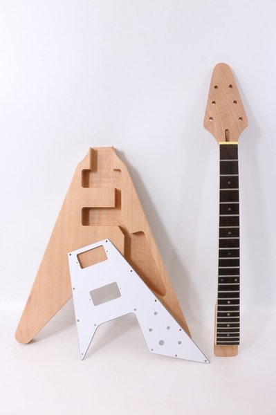 1 set Chitarra elettrica Kit Guitar Neck Body 22 Fret Chitarra elettrica Flying