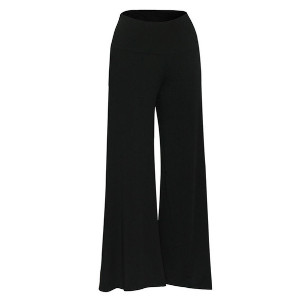 Plus Size Women's Casual High Waist Palazzo Flare Wide Leg Long Pants Trousers Women Sexy Clothes Pants