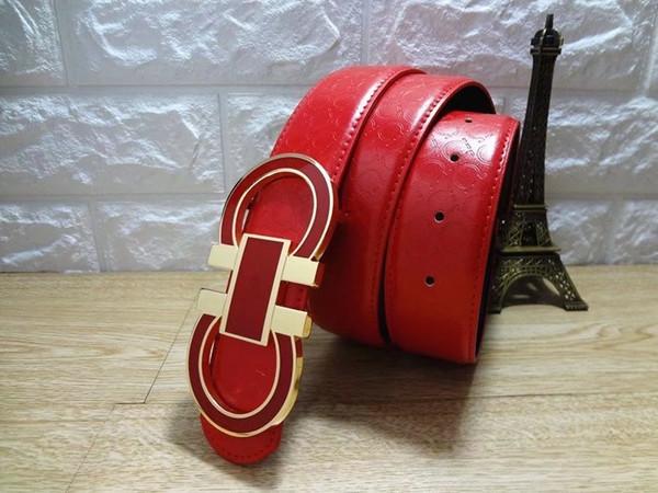 2018 Luxury Big Buckle Belts For Men Women Famous Designer Leather Belts Fashion Brand Waist Belt High Quality Men's Leather Belts