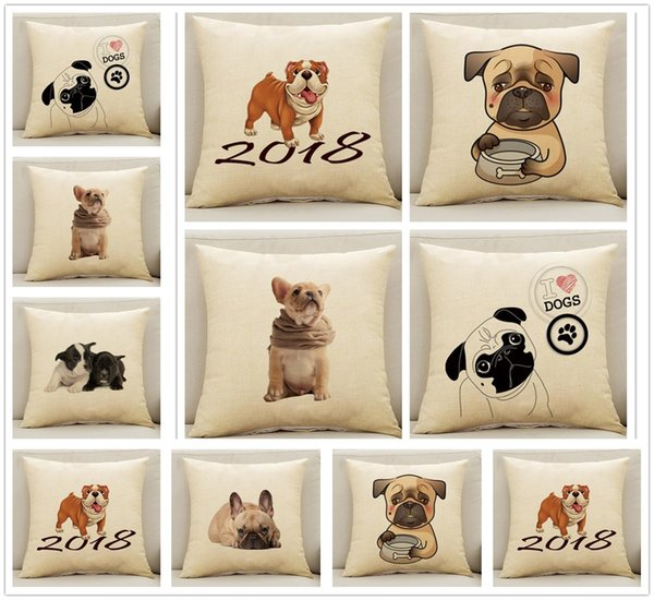 New Fasion Funny Dog Pattern Pillow Case Cushion Cover Home Bed Decoration Lovely Gifts Free Shipping