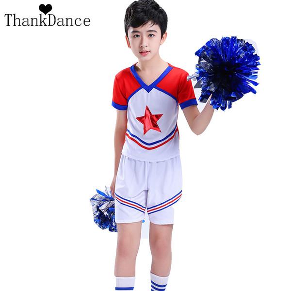top popular Boy School Uniforms For Girls Uniforms Pentagram Children Calisthenics Suit Girl Student Competition Suit Girl Cheerleader 2019