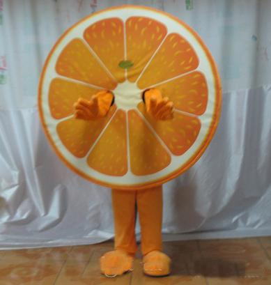 2018 High quality fruit mascot costume orange mascot costume for adult to wear