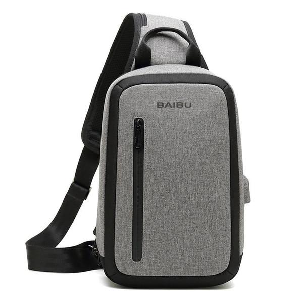 DAYGOS Men new Anti-theft Large Capacity Multi-pocket Crossbody Bag Casual Men Chest Bag Waterproof Sling-Bag iPad Messenger