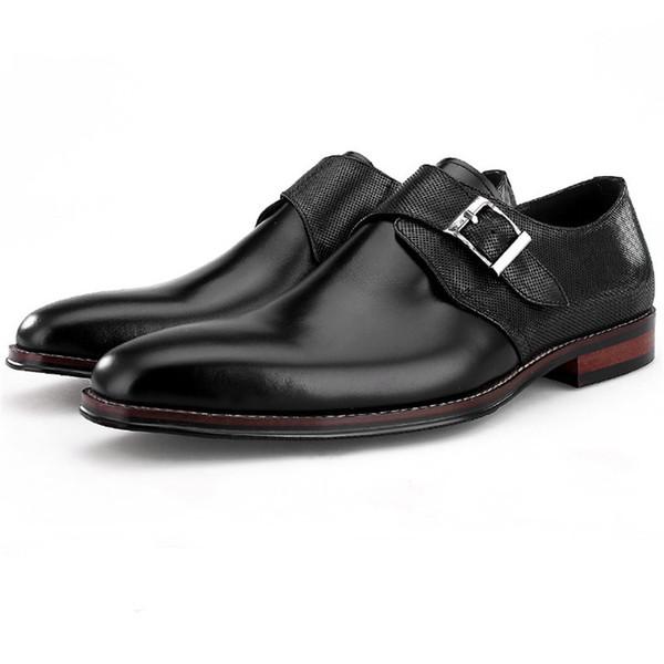 Heißer verkauf braun / schwarz formale mönch schuhe mens prom dress schuhe aus echtem leder business männlich hochzeit bräutigam
