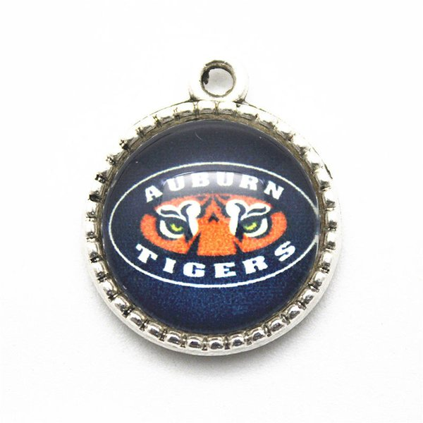 20 teile / los NCAA Auburn Tiger Team Sport Anhänger Baumeln Charme Hängende DIY Halskette Armband Schmuck Zubehör charme