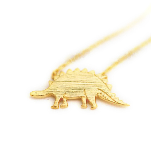 Fashion dinosaurs pendant necklaces Lovely long stegosaurus pendant necklaces Beautiful original animal necklaces for women