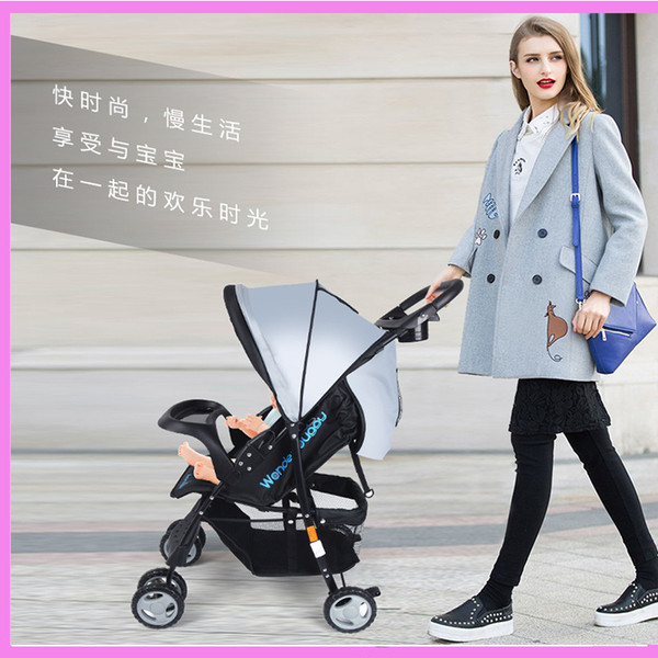 Lightweight Baby Stroller 5.4KG Folding Carriage Buggy Pushchair Pram Infant Carriage