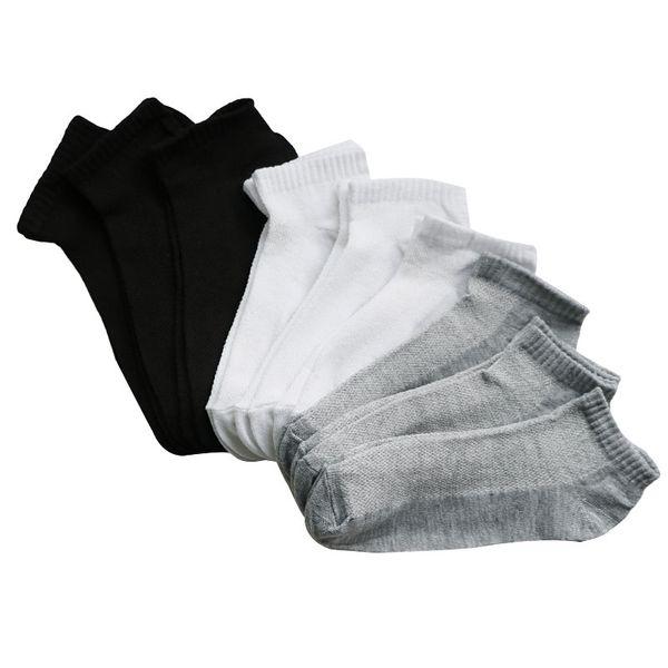 c84667957 10Pairs Womens Socks Solid White 3d Printed Ladies Socks Art Girls Ankle  Summer Thin Boat Female Gray Black
