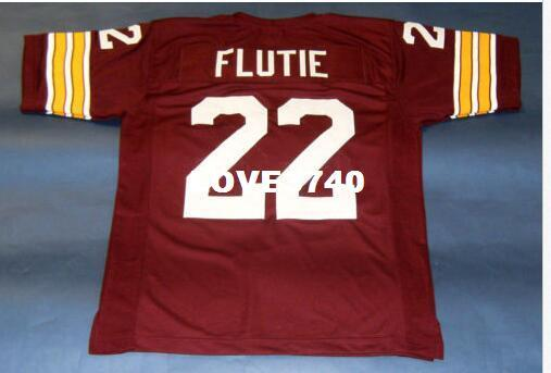 best selling Men BOSTON EAGLES #22 DOUG FLUTIE CUSTOM College Jersey size s-4XL or custom any name or number jersey