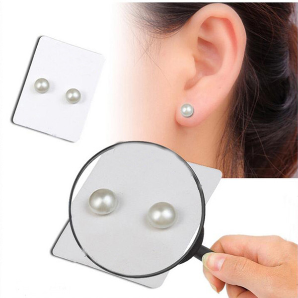 top popular Magnet Magnetic Ear Stud, Auniquestyle Fashional 6mm One Pair Fashion Non Piercing Clip Stud Earrings Lover Jewelry Earrings Pearl 2019
