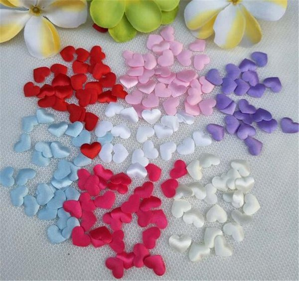 100pcs Fabric Heart dia 3.2x3.2cm Wedding Party Confetti Table Decoration birthday party Decorative Supplies