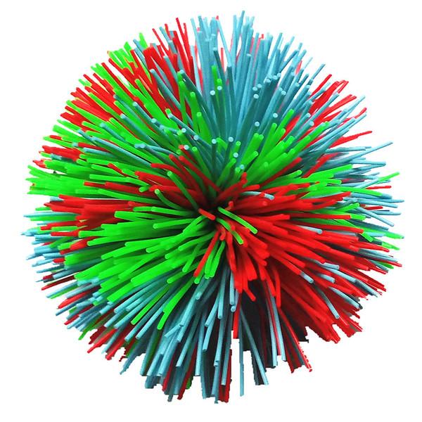 6 CM Colorido Suave Divertido Activo Juguetes Fidgets Sensoriales Juguetes Arco Iris de Goma Bouncy Stress Novedad de Juguete Para Niños Adultos SHH7-1186