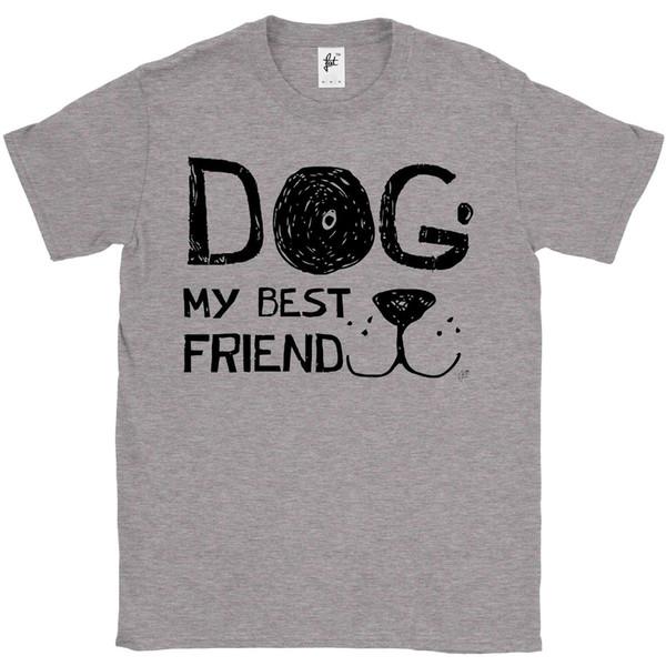 Perro Mi Mejor Amigo cara del perro camiseta para hombre de Smiling