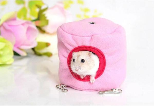 El invierno caliente de Pequeños Animales casa del animal doméstico Hamaca Conejo Hamster rata colgando cama de la casa linda Mini jaula del animal doméstico Juguetes de roedores Juguetes