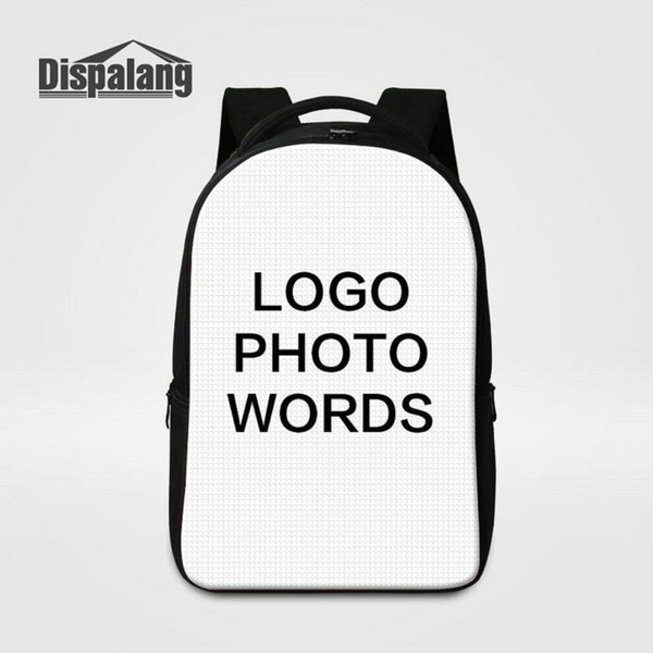 Women Men Unique Design Large Capacity Laptop Backpack Print Your Own Logo Photo On School Bags For College Students Unisex Customize Rugtas