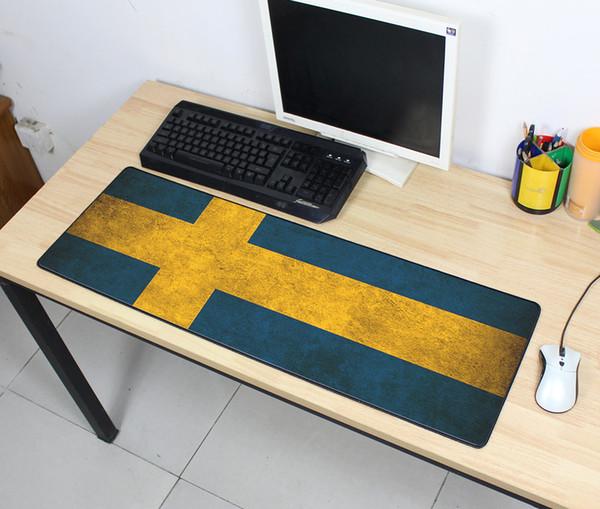 dicke Vintage Gaming Mouse Pad Beliebte Ebene Verlängern UKUSKorea Flagge Schreibtisch Tastatur Mauspad Mousepad Gamer für High-end-Spiel