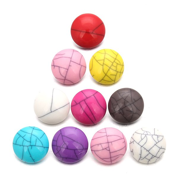 Random Mixed Color Pression Bijoux 18mm Snaps Buttons Fit Snap Bracelets DIY Fashion Snap Jewelry Findings ZD006