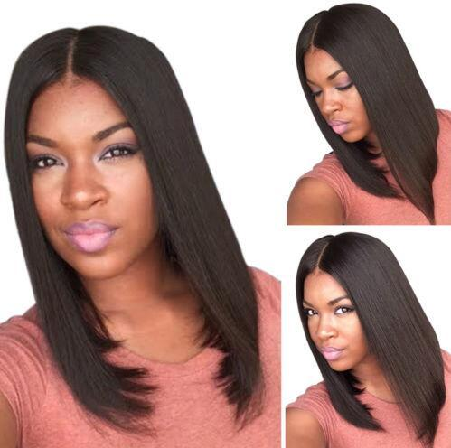 Natural Black 1b# Short Bob Straight Wigs Lace Front Wigs for Black Women Full lace Wigs