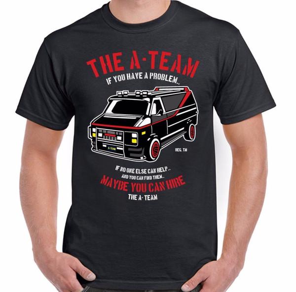 Cheap Custom T Shirt Printing Short Sleeve Men The A - Team Van Mens Funny 80's Tv Programme T-shirt Regular Crew Neck Tee Shirt