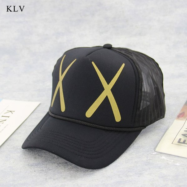 KLV 2018 New Women Men Hip Hop Cartoon Print Curved Baseball Cap Mesh Snapback  Hat Adjustable 0a7760d449ca