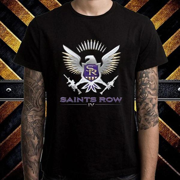 Compre New Saints Row Logo Aventura Videojuegos Camiseta Negra Para