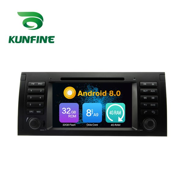 Octa Core 4GB RAM Android 8.0 Car DVD GPS Navigation Multimedia Player Car Stereo for BMW 5 E39 Series:1996 to 2001-E39 Radio Headuint Wifi