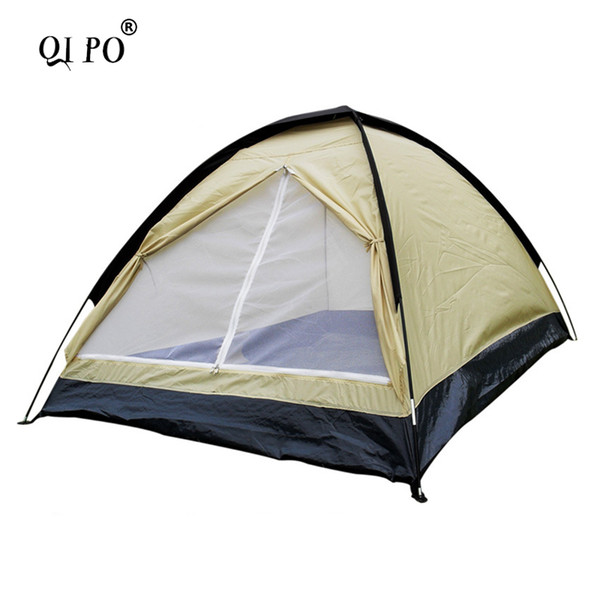 Outdoor camping tents double single layer rainproof wild tourism camping picnic park leisure ultra light portable tent