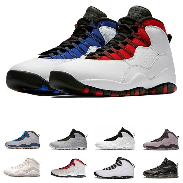10 10s Mens Basketball Shoes Westbrook New Cement shool Bobcats Chicago Cool Grey Powder Blue Steel Grey black Men Sport Sneakers Shoes