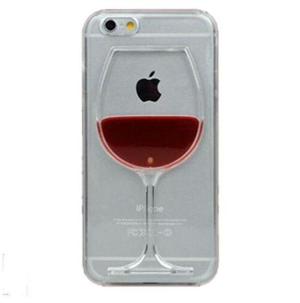 Iphone X XS 10 kılıf kırmızı Şarap Bardağı Sıvı Şeffaf Sert plastik Kılıf Apple iPhone 7 7 artı 6 6 S artı 8 8 Artı Telefon Kılıfları