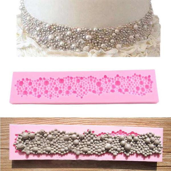 New Pearls Beads Shape Stampo in silicone di cottura Fondant Cake Decor Sugarcraft muffa decorazione della cucina