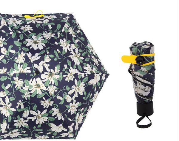 2438e45e260b 2019 Wholesale Creative Lily Flower 5 Folding Umbrella Cute Mini Compact  Lightweight Portable Travel Umbrella Rain Waterproof/UV Protective From ...