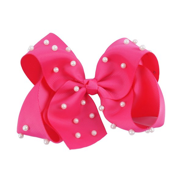 """5PCS/LOT 5"""" Fashion Large Ombre Signature Grosgrain Hair Bows Clips With Big Knotted HairBows For Girl Head Wear"""