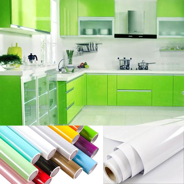 3 M / 5 M / 10 M DIY Duvar Sticker Mobilya Yenileme Viny Sticker Mutfak Dolabı Su Geçirmez Dekoratif Filmler Kendinden yapışkanlı Duvar Kağıdı